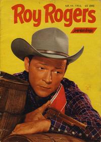 Cover Thumbnail for Roy Rogers (Serieforlaget / Se-Bladene / Stabenfeldt, 1954 series) #19/1956