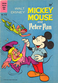 Cover Thumbnail for Walt Disney's Mickey Mouse (W. G. Publications; Wogan Publications, 1956 series) #214