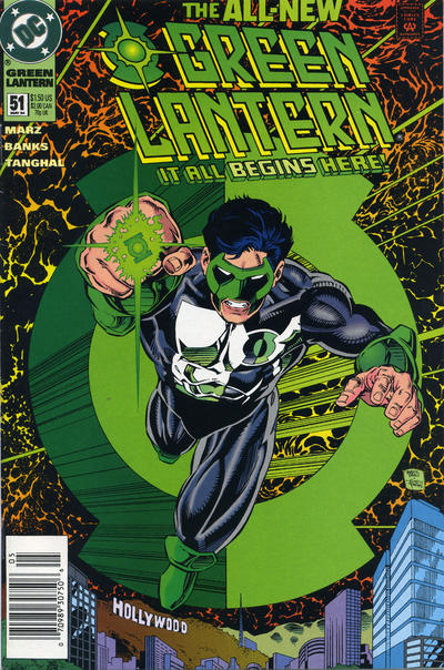 Cover for Green Lantern (DC, 1990 series) #51 [Newsstand]