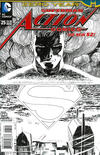 Cover Thumbnail for Action Comics (2011 series) #25 [Aaron Kuder Black & White Cover]