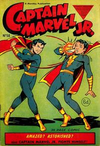 Cover Thumbnail for Captain Marvel Jr. (L. Miller & Son, 1950 series) #58