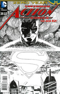 Cover Thumbnail for Action Comics (DC, 2011 series) #25 [Aaron Kuder Black & White Cover]