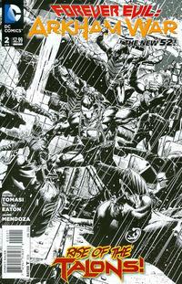 Cover Thumbnail for Forever Evil: Arkham War (DC, 2013 series) #2 [Jason Fabok Black & White Cover]