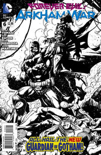 Cover Thumbnail for Forever Evil: Arkham War (DC, 2013 series) #6 [Jason Fabok Black & White Cover]