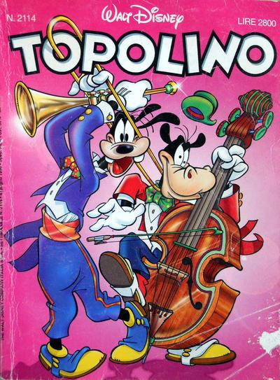 Cover for Topolino (The Walt Disney Company Italia, 1988 series) #2114