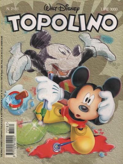 Cover for Topolino (The Walt Disney Company Italia, 1988 series) #2181