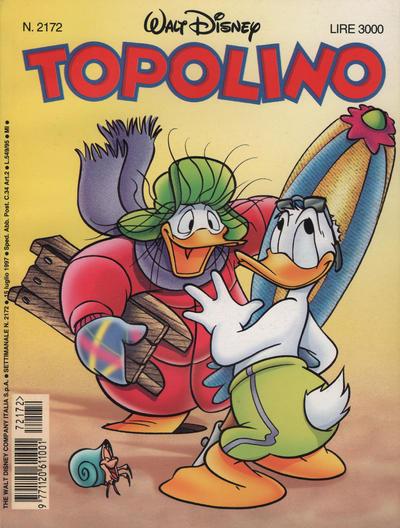 Cover for Topolino (The Walt Disney Company Italia, 1988 series) #2172