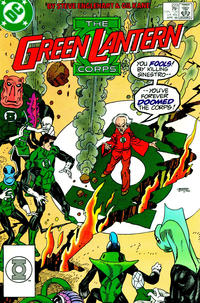 Cover Thumbnail for The Green Lantern Corps (DC, 1986 series) #223 [Direct Edition]