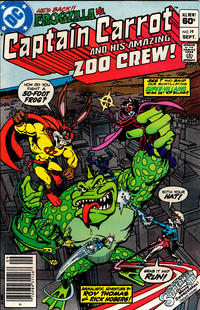 Cover Thumbnail for Captain Carrot and His Amazing Zoo Crew! (DC, 1982 series) #19 [Newsstand]