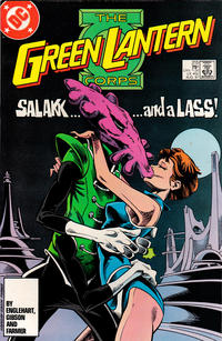 Cover Thumbnail for The Green Lantern Corps (DC, 1986 series) #215 [Direct Edition]