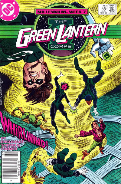 Cover for The Green Lantern Corps (DC, 1986 series) #221 [Direct Edition]