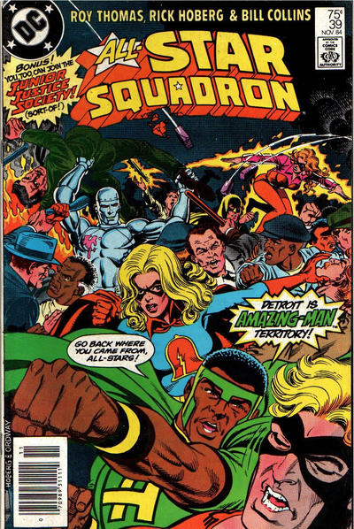 Cover for All-Star Squadron (DC, 1981 series) #39 [Direct]