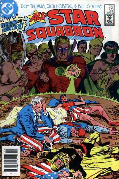 Cover for All-Star Squadron (DC, 1981 series) #32 [Direct Edition]