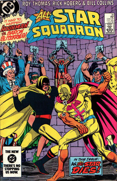 Cover for All-Star Squadron (DC, 1981 series) #35 [Direct-Sales]