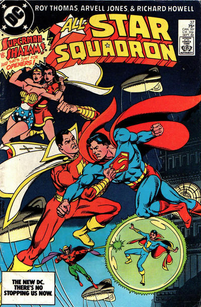 Cover for All-Star Squadron (DC, 1981 series) #37 [Direct Edition]