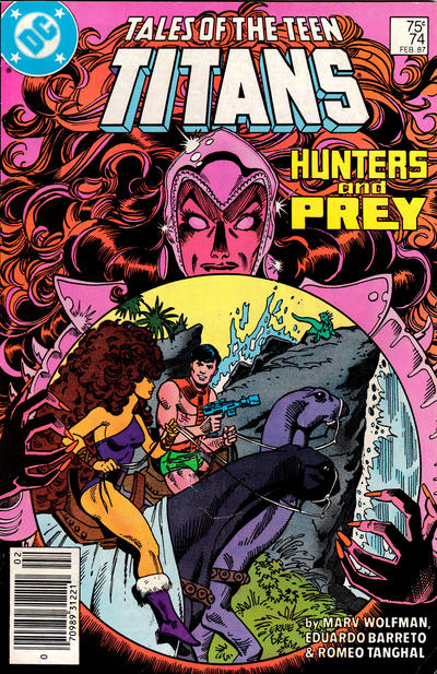 Cover for Tales of the Teen Titans (DC, 1984 series) #74