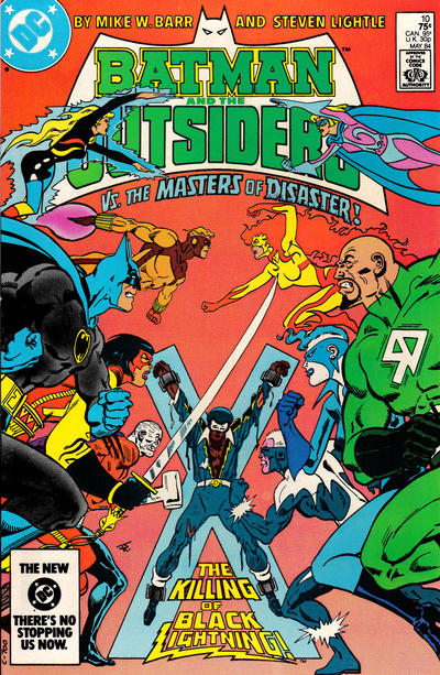 Cover for Batman and the Outsiders (DC, 1983 series) #10 [Direct Sales]