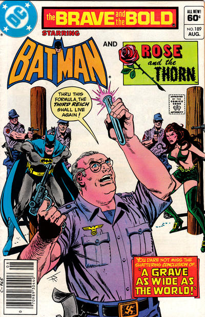 Cover for The Brave and the Bold (DC, 1955 series) #189 [Direct]