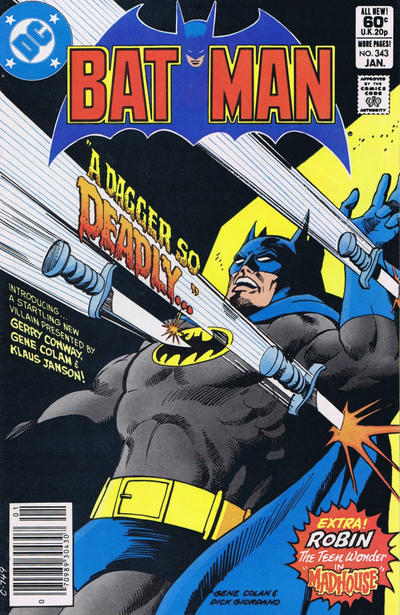 Cover for Batman (DC, 1940 series) #343 [Direct Edition]