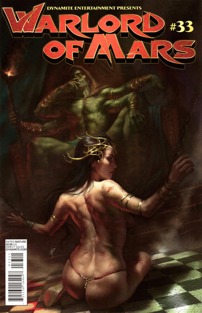 Cover for Warlord of Mars (Dynamite Entertainment, 2010 series) #33 [Cover B Lucio Parrillo]
