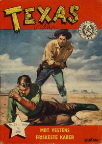 Cover Thumbnail for Texas (Serieforlaget / Se-Bladene / Stabenfeldt, 1953 series) #32/1960