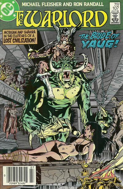 Cover for Warlord (DC, 1976 series) #107 [direct]