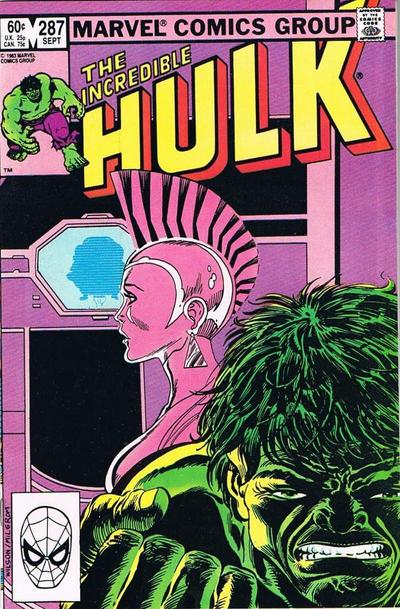 GCD Cover The Incredible Hulk 287