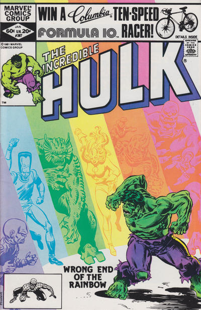 GCD Cover The Incredible Hulk 267