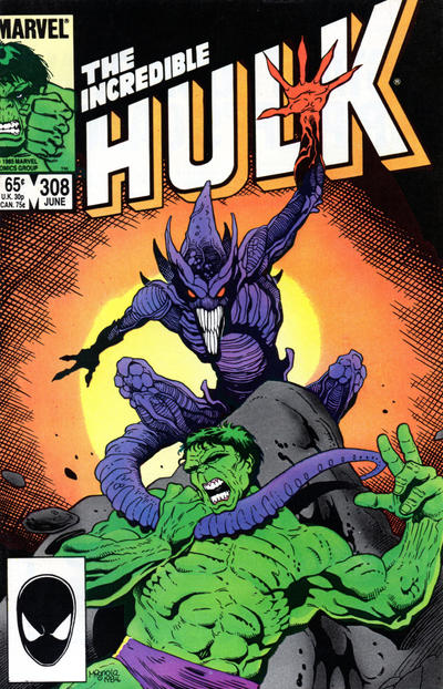 GCD Cover The Incredible Hulk 308