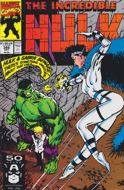 GCD Cover The Incredible Hulk 386